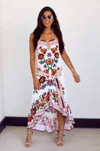 Gita Floral Halter Dress