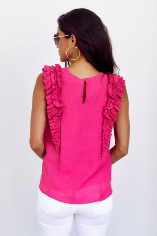 PreOrder Dakota Ruffle Detail Sleeveless Blouse