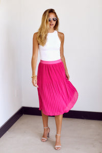 SALE - Penn Pleated Flare Midi Skirt