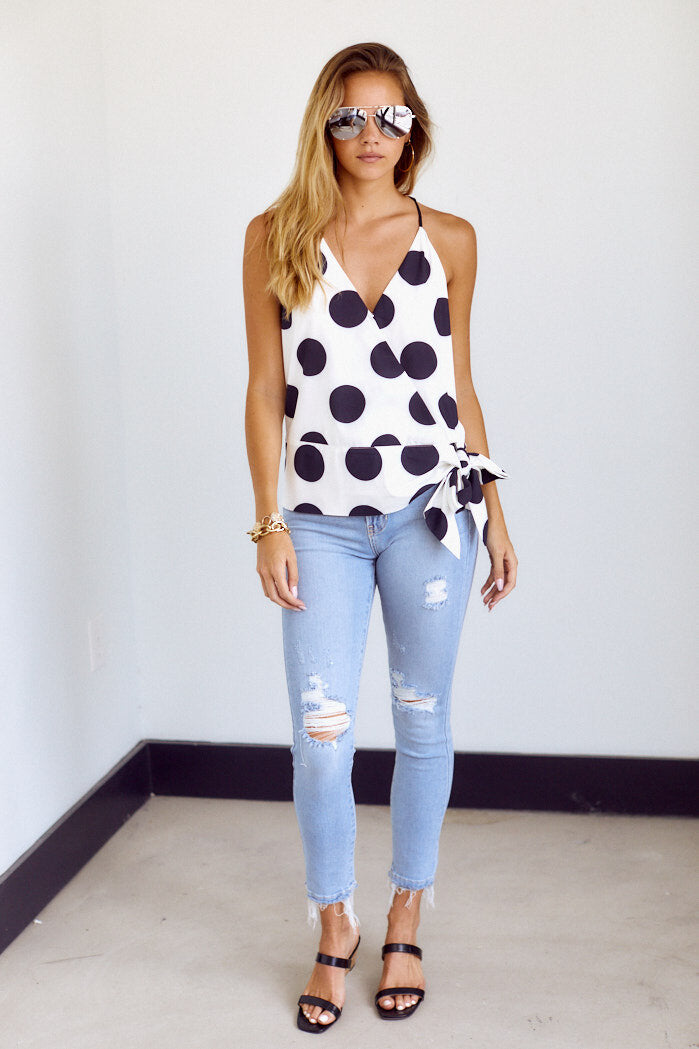 fab'rik - Anniston Polka Dot Sleeveless Blouse ProductImage-14075578286138