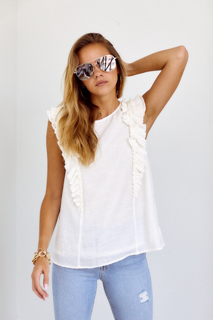 fab'rik - PreOrder Dakota Ruffle Detail Sleeveless Blouse ProductImage-14112227786810