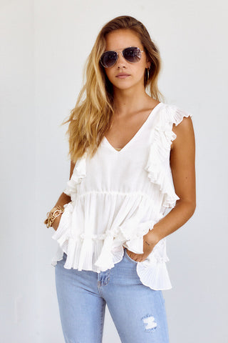 PreOrder Goldie Ruffle Detail Blouse