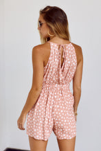 Load image into Gallery viewer, SALE - Jean Star Print Cutout Detail Romper