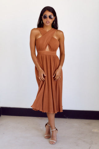 Isla Cutout Midi Dress