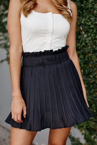 Cora Pleated Mini Skirt