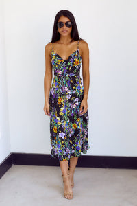fab'rik - PreOrder Dara Floral Print Cowl Neck Midi Dress ProductImage-14112470302778