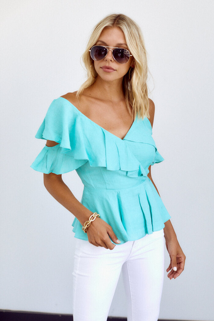 fab'rik - PreOrder Arden Ruffle Detail Cold Shoulder Blouse ProductImage-14112513097786