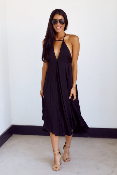 fab'rik - Cherine V Neck Midi Dress image thumbnail
