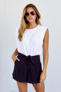 PreOrder Monica Tie Waist Pleated Short