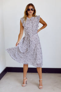 PreOrder Britton Printed Short Sleeve Midi Dress