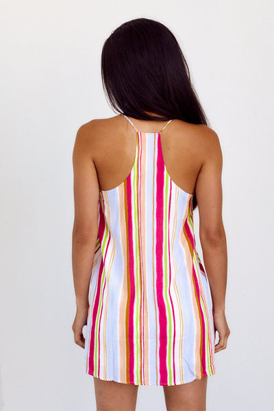 fab'rik - Iona Stripe Racerback Dress image thumbnail