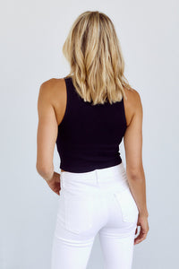 Echo Ribbed Cropped Tank