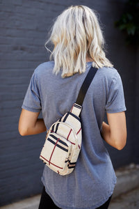 Plaid Crossbody Satchel