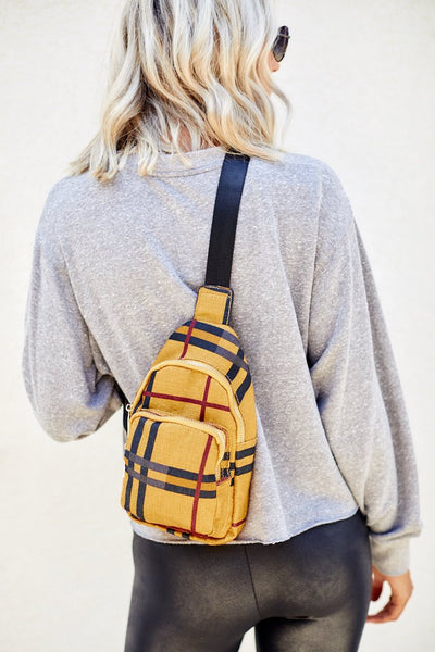 fab'rik - Plaid Crossbody Satchel image thumbnail