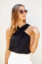 Load image into Gallery viewer, Macy Cinch Waist Halter Top