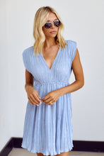 Load image into Gallery viewer, SALE - Augustine Pleated V Neck Mini Dress