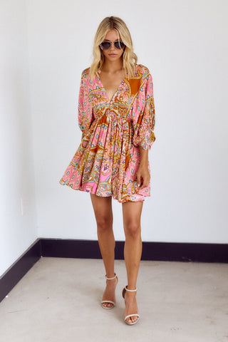Rhoda Paisley Print Dress