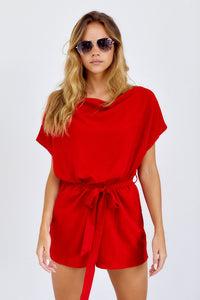 SALE - Ellisyn Short Sleeve Cowl Neck Romper