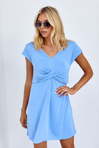 PreOrder Venny Short Sleeve Wrap Front Dress