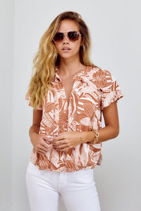 PreOrder Darby Palm Print Top