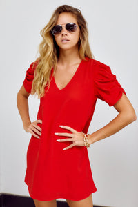 Darla Puff Sleeve Shift Dress