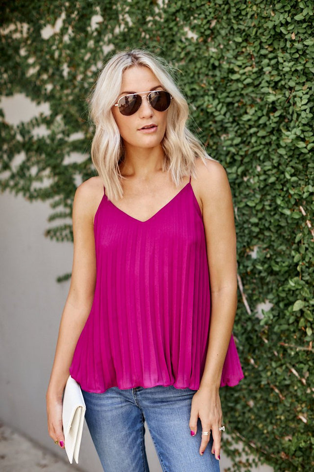 Teagan Pleated Tank