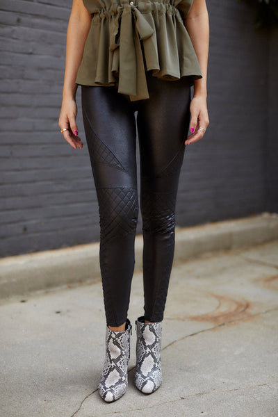 fab'rik - Spanx Quilted Faux Leather Legging image thumbnail