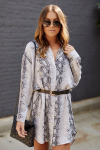 Finlee Snakeskin Shirt Dress