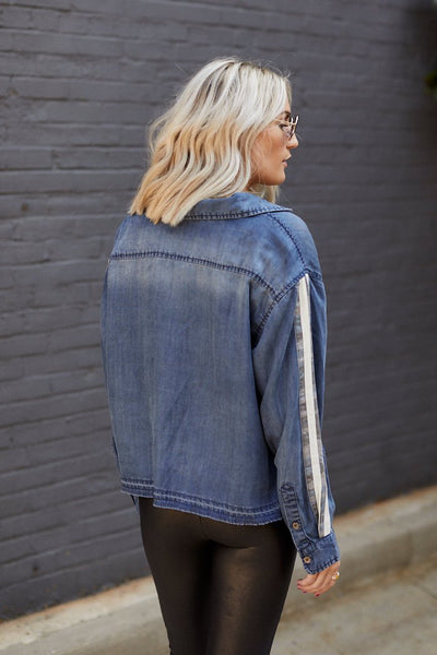 fab'rik - Skye Denim Long Sleeve Top image thumbnail