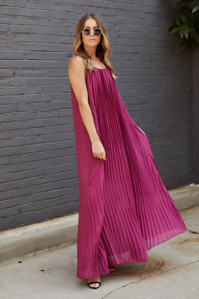 fab'rik - Mara Pleated Maxi Dress image thumbnail