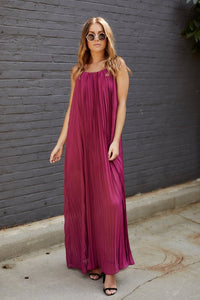 Mara Pleated Maxi Dress