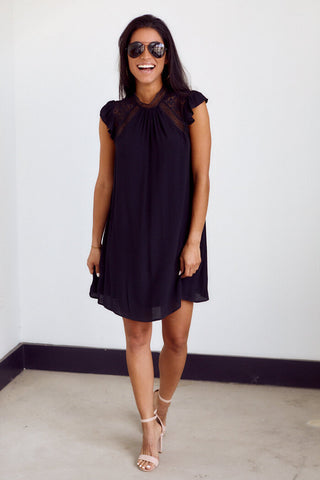 PreOrder Marlowe Lace Detail Shift Dress