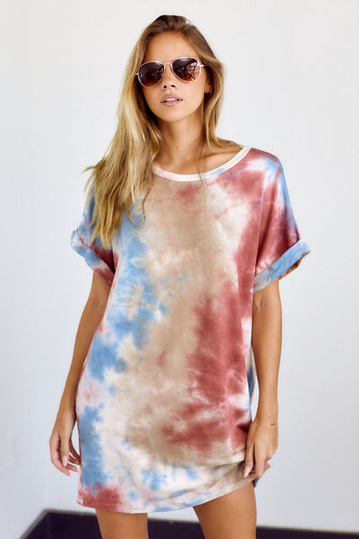fab'rik - Hendrix Tie Dye T-Shirt Dress image thumbnail