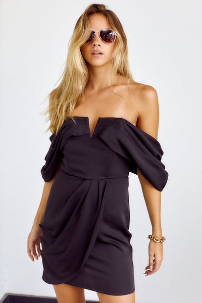 fab'rik - Rami Draped Off The Shoulder Dress image thumbnail