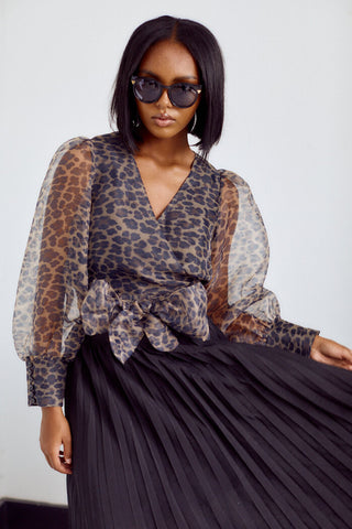 PreOrder Connell Leopard Print Blouse