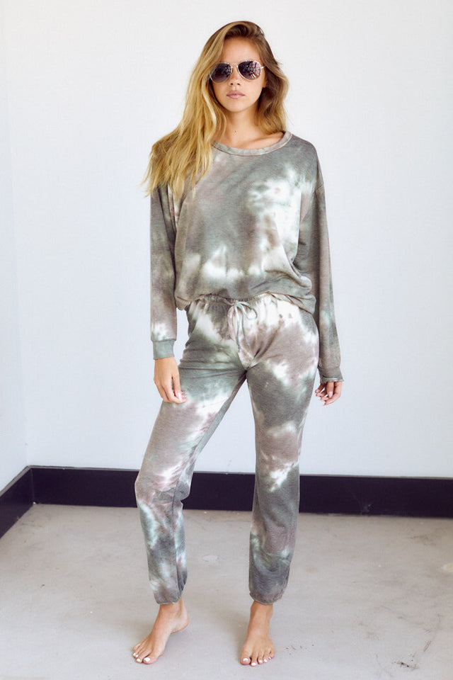 Taylor Tie Dye Brushed Sweat Pant