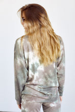 Load image into Gallery viewer, SALE - Bexley Tie Dye Brushed Long Sleeve Crew