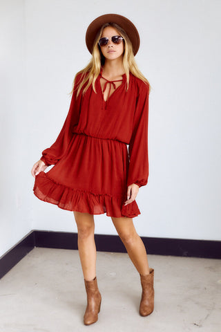 Preorder Inverness Long Sleeve Mini Dress