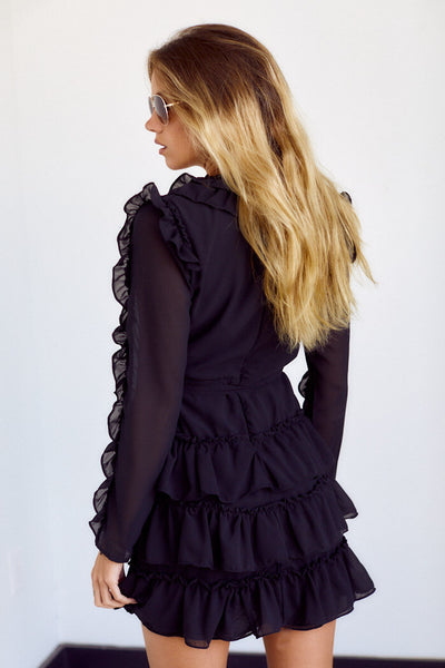 fab'rik - PreOrder Lawson Long Sleeve Ruffle Detail Dress image thumbnail
