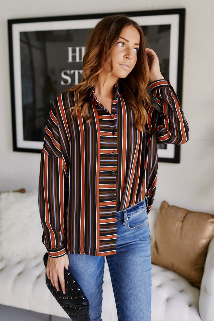 fab'rik - Lainey Stripe Blouse ProductImage-11365074370618