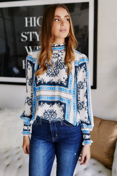 fab'rik - Lonita High Neck Printed Blouse image thumbnail