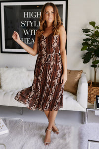 fab'rik - Zola Snake Print Pleated Midi Dress ProductImage-11423599755322