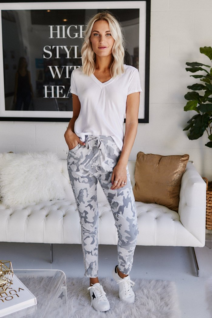 fab'rik - Stassi Camo Studded Joggers ProductImage-11368062124090