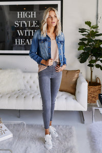 Karla Distressed Denim Jacket