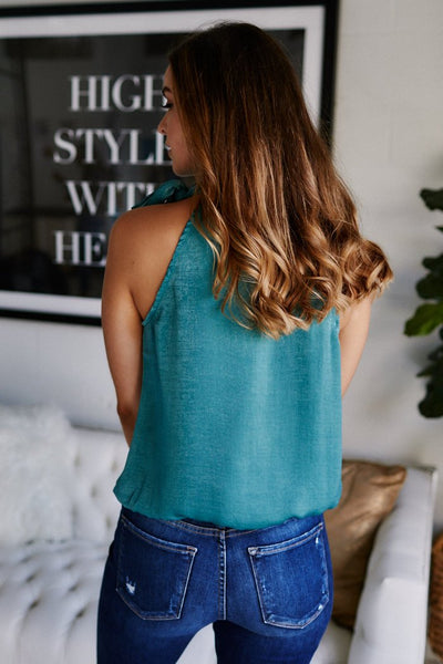 fab'rik - Emersyn Mock Neck Sleeveless Blouse image thumbnail