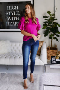 Indy Ruffle Sleeve Blouse