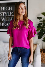 Load image into Gallery viewer, Indy Ruffle Sleeve Blouse