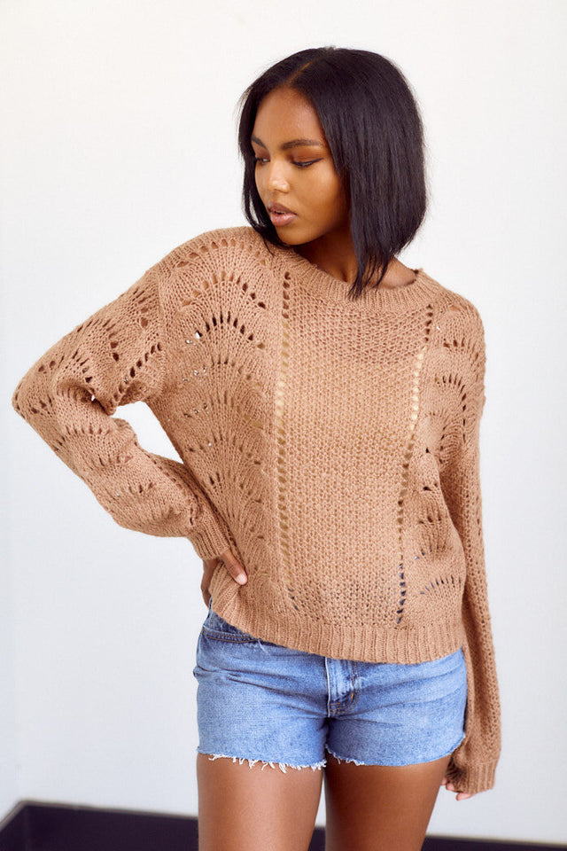 Preorder Manchestor Open Knit Sweater