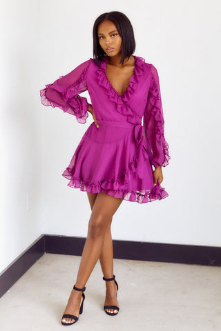 Preorder Argonna Ruffle Detail Mini Dress