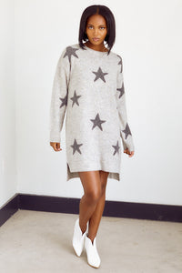 Preorder Brindley Star Print Sweater Dress